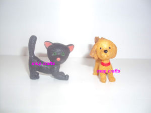 Polyresin Christmas Ornament of Mini Dogs and Cats pictures & photos