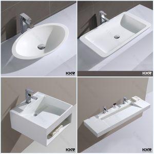 acrylic solid surface bathroom sink resin stone bathroom basin