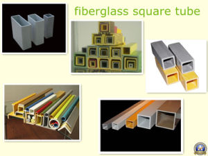 Acid and Alkali Resiatant Fiberglass Square Tube pictures & photos