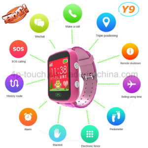 Pedometer Kids Smart GPS Tracker Watch with GPRS Real-Time Location Y9 pictures & photos