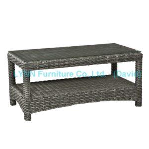 Small PE Rattan Coffee Table for Garden Sofa pictures & photos