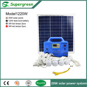 Independent From The Grid AC Power 20W LED Solar System pictures & photos