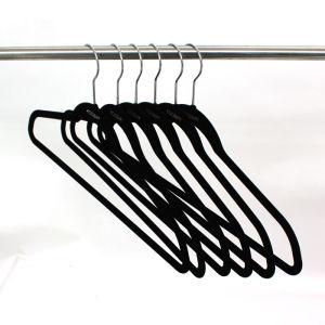 Basic Regular Velvet Flocking Top Slim Hangers, Velvet Clothes Hanger pictures & photos