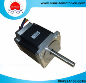 86hs2a100-604b 6A 6.2n. M NEMA34 Double Shaft Stepper Motor pictures & photos