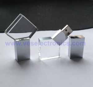 Newest Design New Glass 3D Laser Engraving Crystal Flashdrive 2GB 4GB 8GB 16GB 32GB pictures & photos