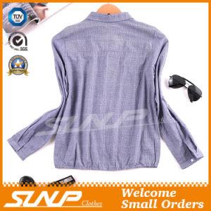 Women Fashion Garment Ladies Woven T-Shirt