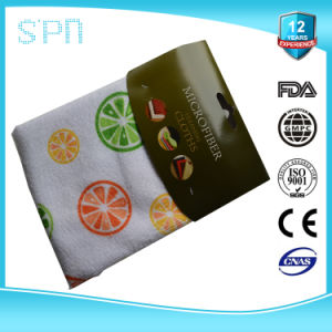 Customized Dye Printing Kitchen Microfiber Cleaning Towel pictures & photos