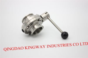 Sanitary Clamped Butterfily Valve with Pull Rod Handle