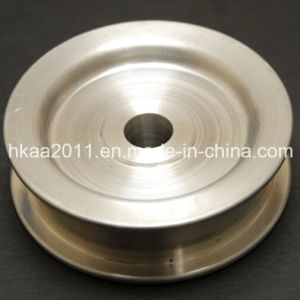 Custom Machining Aluminum Flat Drive Idler Pulley pictures & photos