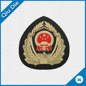 Chinese Police Badge Woven Label for Cap/Cloth pictures & photos