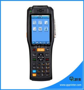 Touch Screen Wireless Android Printer PDA Rugged with Barcode Scanner, Built-in Printer, IP65 pictures & photos