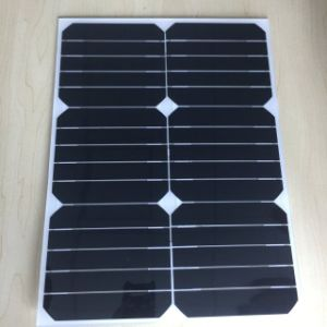 Lightweight Semi Flexible Solar Panel 17W 17V with Ce Certification pictures & photos