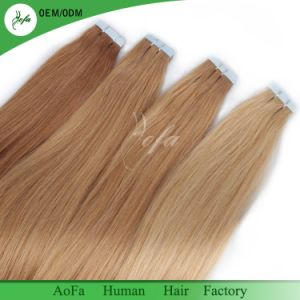 Wholesale Cheap High Quality Remy Hair Seamless PU Tape Weft Hair pictures & photos