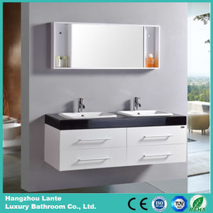 Newest Design Bath Vanity Cabinet with Double Sink with Mirror (LT-C004) pictures & photos