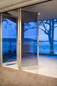 Thinner Frames Blue Tinted Double Glass Aluminium Doors pictures & photos