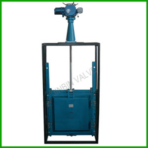 Electric Actuated Square Slide Damper Gate Valve with Hoist pictures & photos