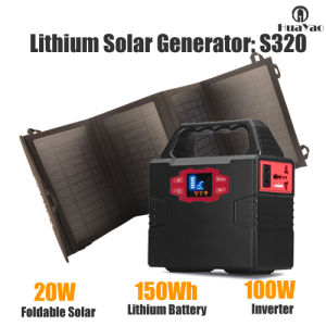 Portable Solar Generator Mini Solar System Power Supply 150wh pictures & photos