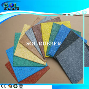 Anti UV Fixed EPDM Flecks Rubber Floor Tile pictures & photos