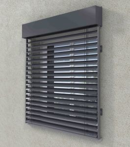 Good Quality Electric Exterior Aluminum Venetian Blind (80mm and 50mm) pictures & photos
