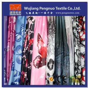 Polyester Nylon Taffeta Transfer Printed Fabric
