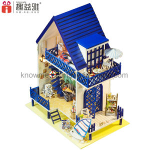 Lovely Model Wooden Toy DIY Dollhouse with Furniture Best Wishes pictures & photos