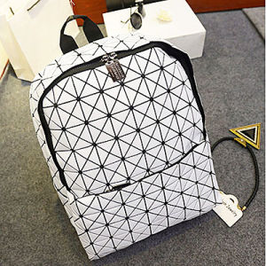 Japan Style No Brand Geometric Bao Bao Bag Backpack (IS02) pictures & photos