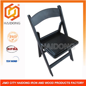 High Quality Black Resin Folding Garden Chair pictures & photos