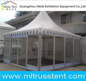 Disply Glass Pagoda Tent Booth Trade Show Pagoda 5m*5m pictures & photos