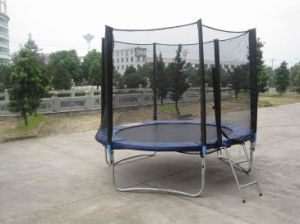 8ft Round Trampoline with Safe Net and Ladder Sx-Ft (E)