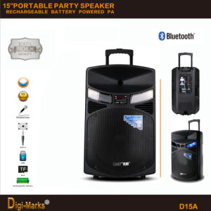 2016 Best HiFi Wireless Bluetooth DJ Disco Outdoor Powered Loudspeaker pictures & photos