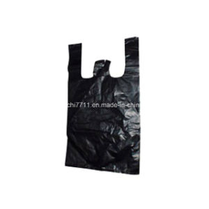 Plastic Black Shopping Bag with Cut Handle pictures & photos
