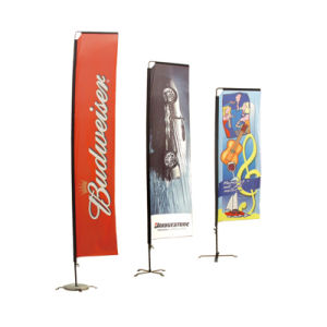 Popular Portable Tear Drop Shape Flag Pole pictures & photos