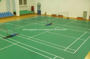 Indoor Synthetic Rubber Badminton Court Spu pictures & photos
