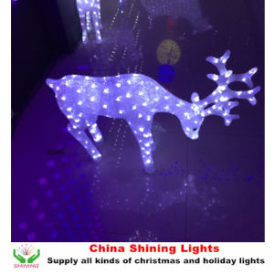 DC 24V Acrylic Christmas LED 3D Reindeer Motif Light pictures & photos
