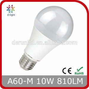 10W A60 E27 Plastic Coated Aluminum LED Bulb
