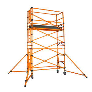 220kv Yellow Fiberglass Single-Wide Scaffolding Tower pictures & photos
