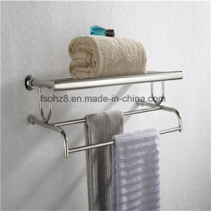 Hot Sale Stainless Shelf with Towel Rack for Bathroom (814) pictures & photos