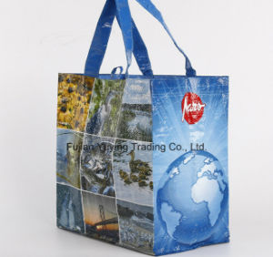 PP Fabric Handle Bag with Customized Printing (YYNWB068) pictures & photos