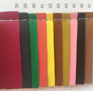Elastic Backing PU Leather for Ladies Shoes Flats Sandals pictures & photos
