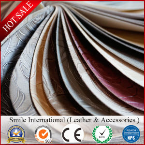 Classic Embossed Synthetic PVC Leather for Furniture Wholesales pictures & photos