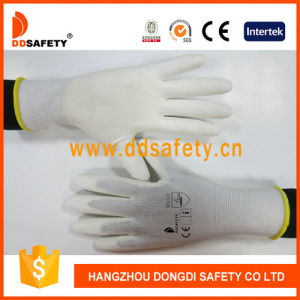 Ddsafety 2017 White Nylon with White PU Glove pictures & photos