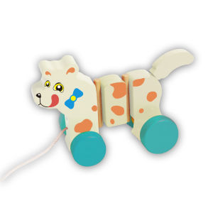 Hot Sale Cute Pull Dog Wooden Toddler Toys for Babies and Kids pictures & photos