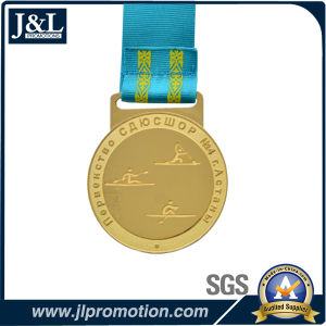 Customer Design Shiny Gold Medal H Type Ribbon pictures & photos