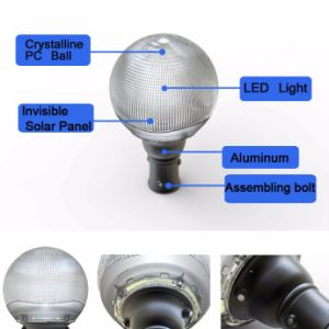 Guangzhou Electric LED Solar Powered Garden Light Pole Light pictures & photos