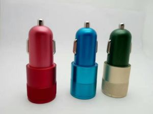 Multi Color Dual Car Charger QC2.0 Mini Car Battery Charger pictures & photos