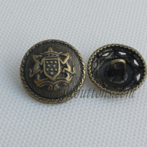 Antique Style Custom Alloy Shank Sew Buttons for Coat pictures & photos