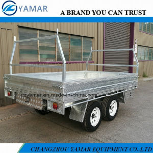 10X6 Galvanized Flat Top Trailer pictures & photos