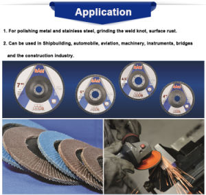 100X22.2mm Calcined Aluminum Metal Polishing Flap Wheels for Metal pictures & photos