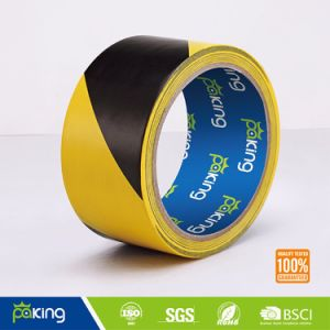 48mm*30m Black Yellow Caution Tape - PVC Floor Mark Tape pictures & photos