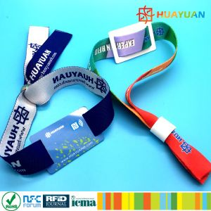 MIFARE DESFire woven wristband for music festival pictures & photos